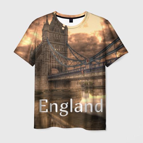 Мужская футболка 3D England (Англия)