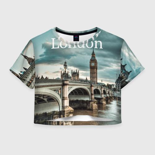 Женская футболка Crop-top 3D London