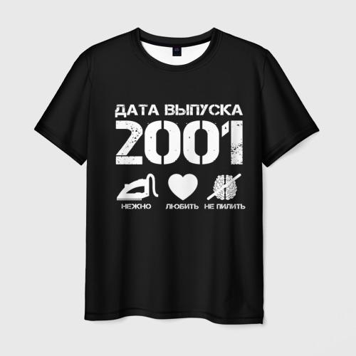 Мужская футболка 3D Дата выпуска 2001