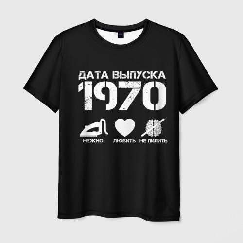 Мужская футболка 3D Дата выпуска 1970