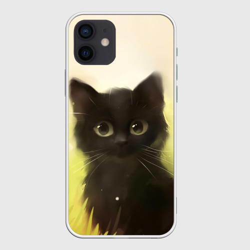 Чехол для iPhone 12 Pro Mini Котик