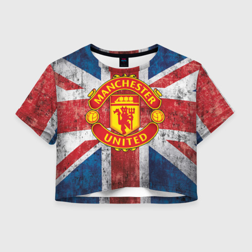 Женская футболка Crop-top 3D Manchester United №1!