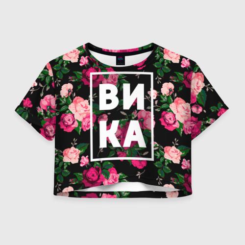 Женская футболка Crop-top 3D Вика