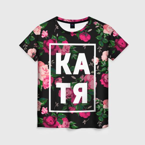 Женская футболка 3D Катя