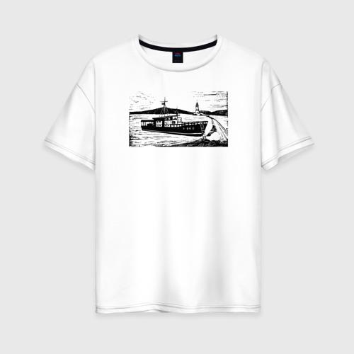 Женская футболка хлопок Oversize Владивосток