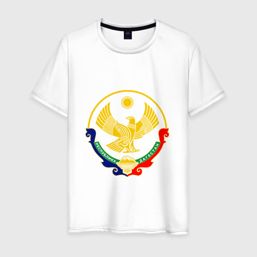 Мужская футболка хлопок Герб Дагестана