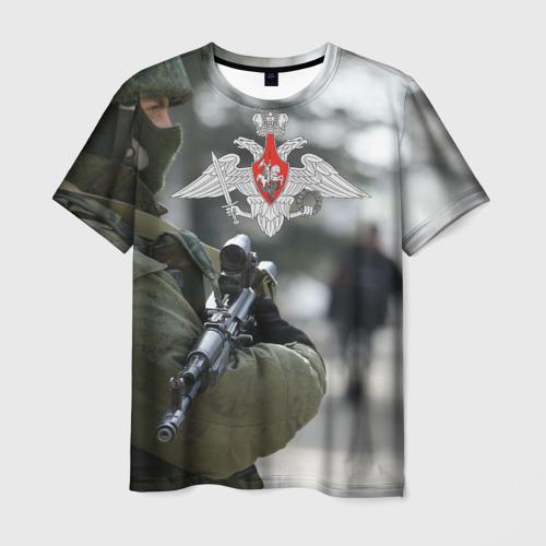 Мужская футболка 3D Войска России