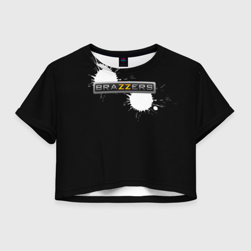Женская футболка Crop-top 3D Brazzers