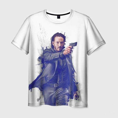 Мужская футболка 3D Джон Уик - Киану Ривз - Keanu Reeves