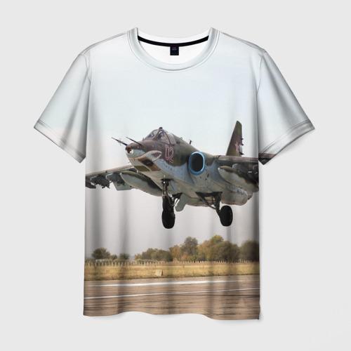 Мужская футболка 3D Истребитель