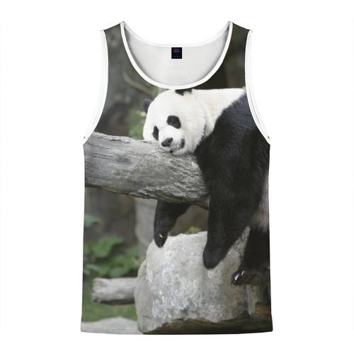 Мужская майка 3D Большая уставшая панда