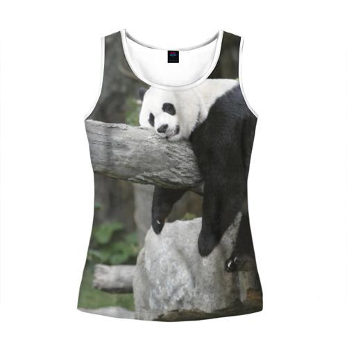 Женская майка 3D Большая уставшая панда