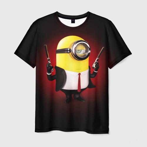 Мужская футболка 3D Minion Hitman