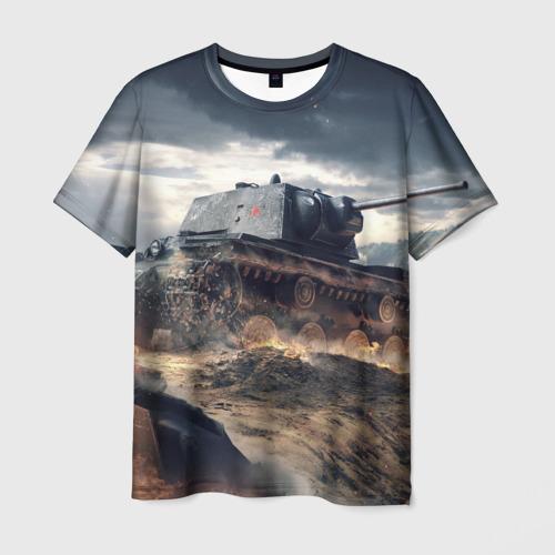 Мужская футболка 3D Танк
