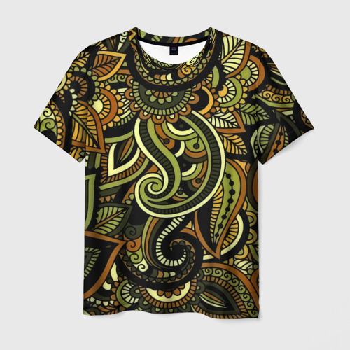 Мужская футболка 3D Flower Pattern