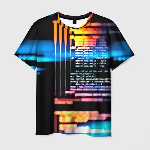 Мужская футболка 3D Programming