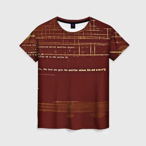 Женская футболка 3D Программный код