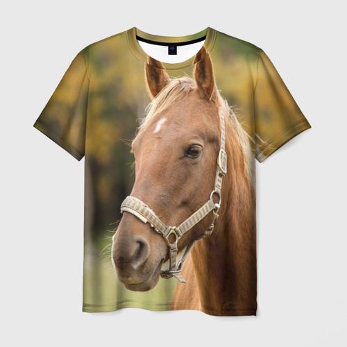 Мужская футболка 3D Лошадь