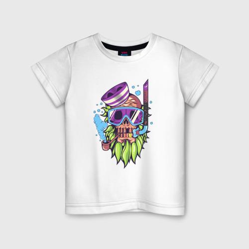 Детская футболка хлопок Скелет подводник