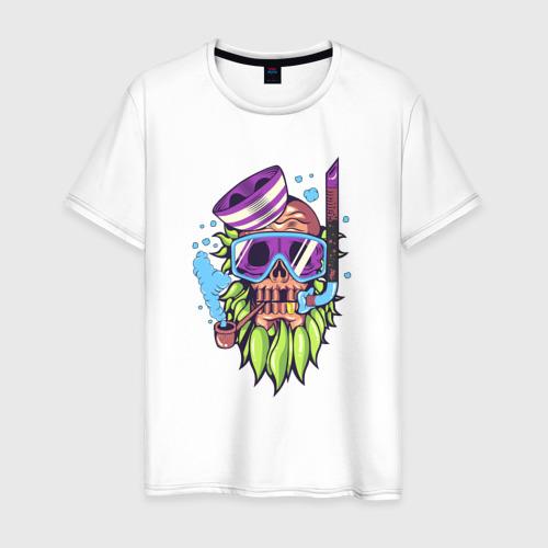 Мужская футболка хлопок Скелет подводник