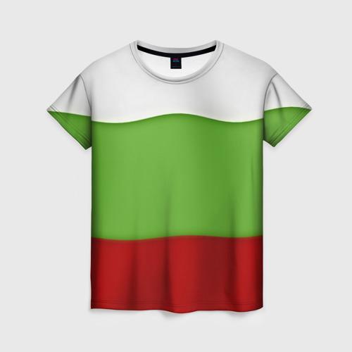 Женская футболка 3D Болгария