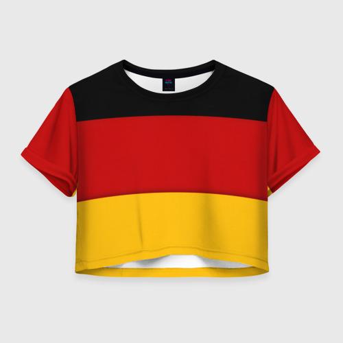 Женская футболка Crop-top 3D Германия