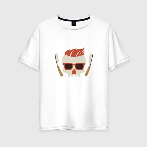 Женская футболка хлопок Oversize BARBER Барбер