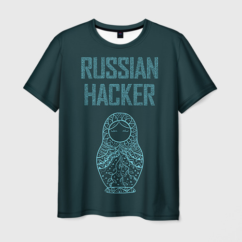 Мужская футболка 3D Русский хакер