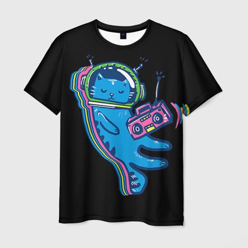 Мужская футболка 3D Космокот 1