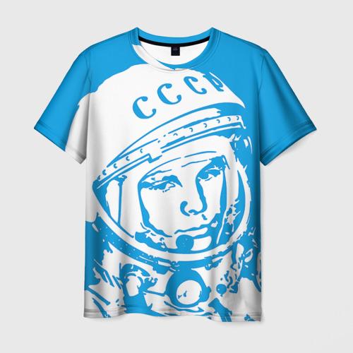 Мужская футболка 3D Гагарин 1