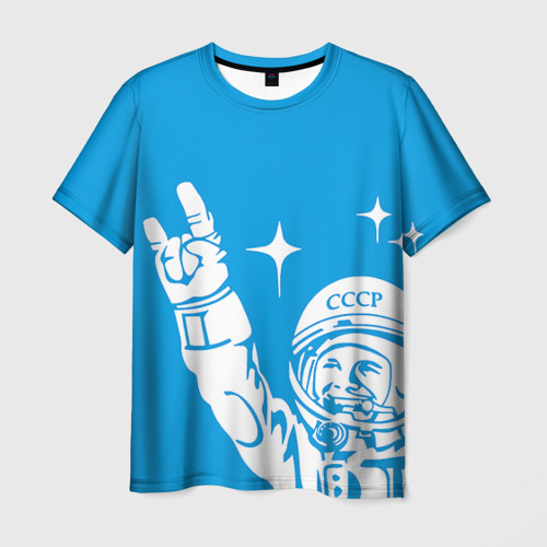 Мужская футболка 3D Гагарин 2