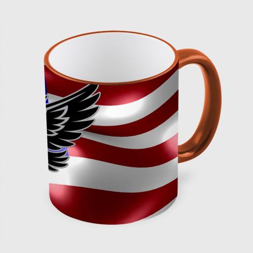 Кружка с полной запечаткой Флаг США с орлом