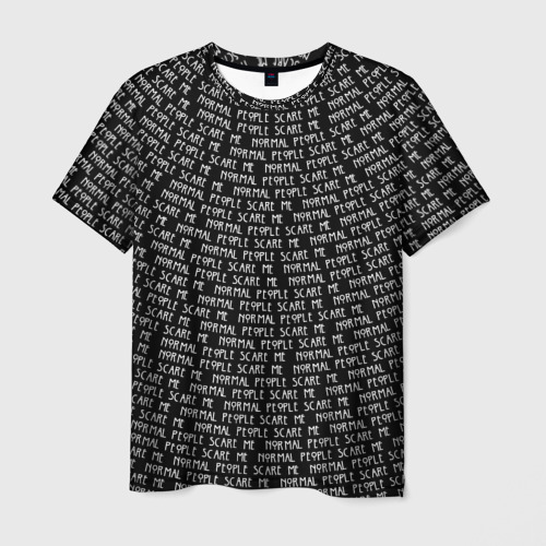 Мужская футболка 3D Normal people scare me