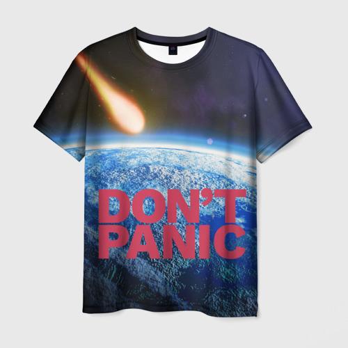 Мужская футболка 3D Без паники, метеорит