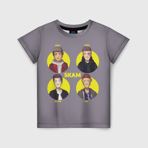 Детская футболка 3D Сериал SKAM