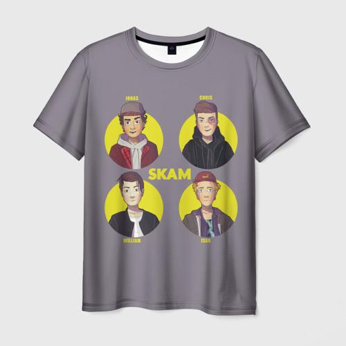 Мужская футболка 3D Сериал SKAM