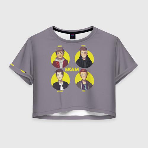 Женская футболка Crop-top 3D Сериал SKAM