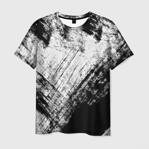 Мужская футболка 3D Штриховка