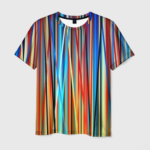 Мужская футболка 3D Colored stripes