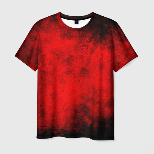 Мужская футболка 3D Grunge red
