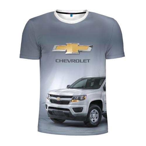 Мужская футболка 3D спортивная Chevrolet пикап