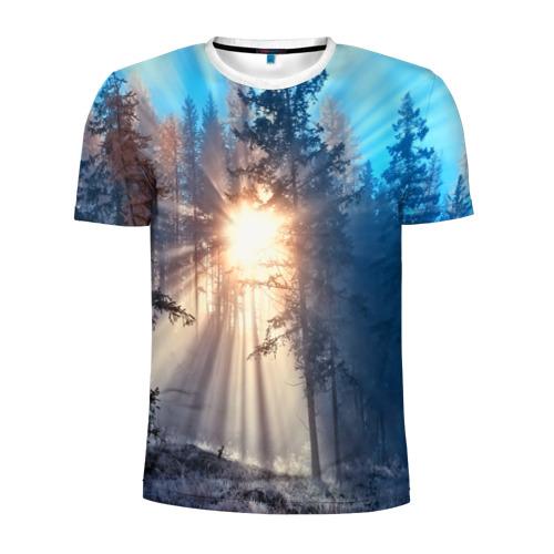 Мужская футболка 3D спортивная Woodland