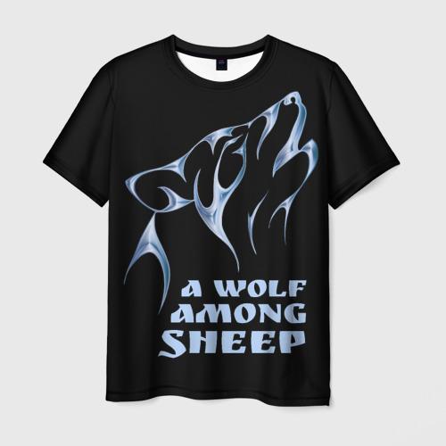 Мужская футболка 3D Волк среди овец