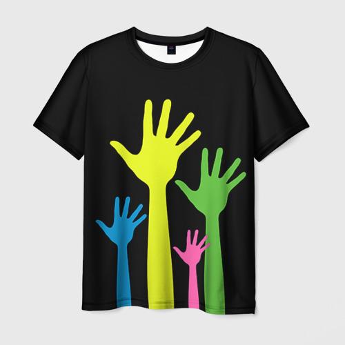 Мужская футболка 3D Руки вверх!