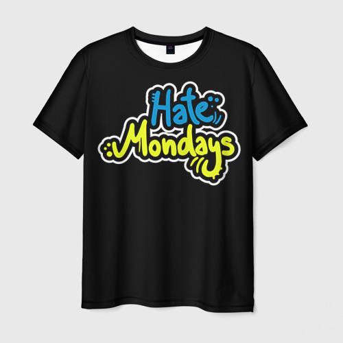 Мужская футболка 3D Ненавижу понедельники!