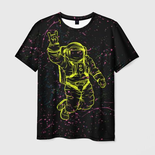 Мужская футболка 3D Космический рок