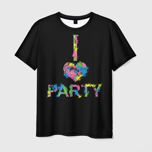 Мужская футболка 3D Люблю тусоваться