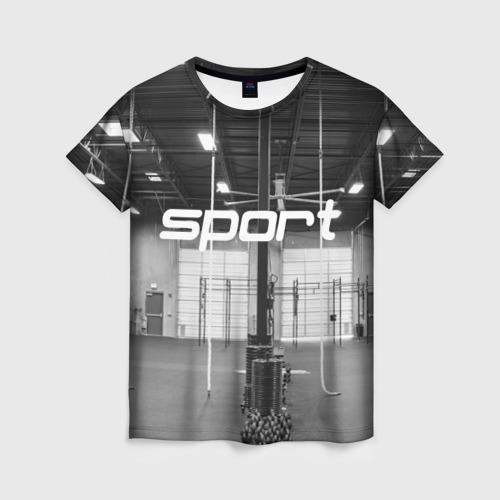 Женская футболка 3D Спортзал