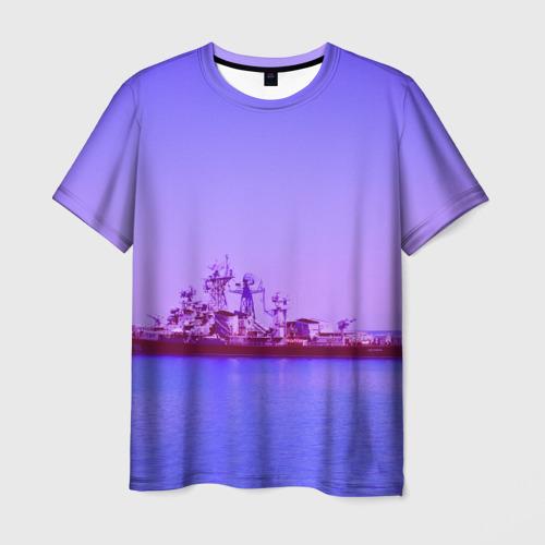 Мужская футболка 3D Сторожевой корабль
