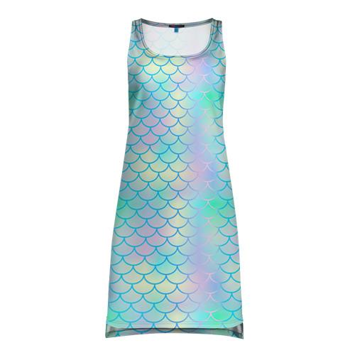 Платье-майка 3D Голубая чешуя